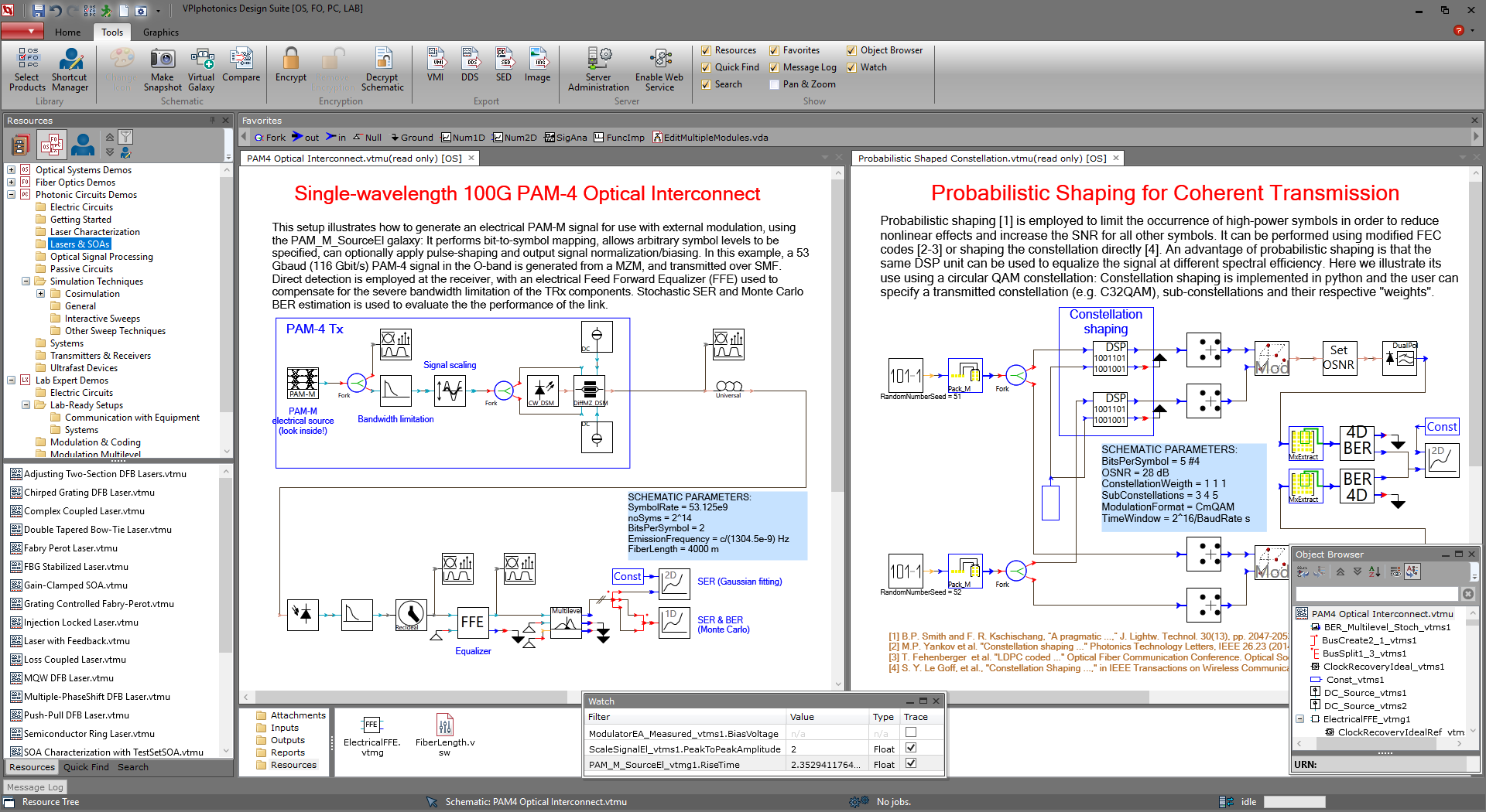 Photonic Design Environment (PDE) of Version 9.9